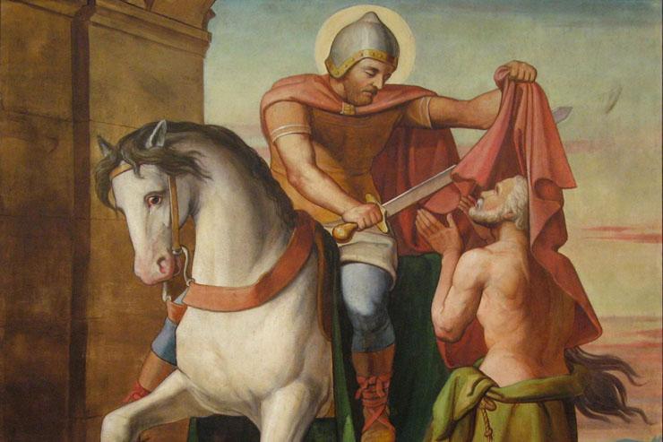 """""""La charité de saint Martin"""" Louis Anselme Longa festménye"""